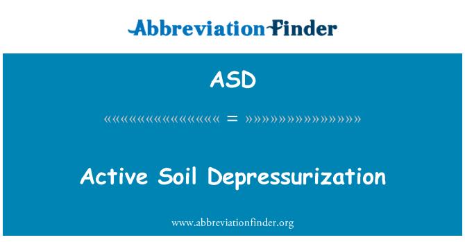 ASD: Active Soil Depressurization