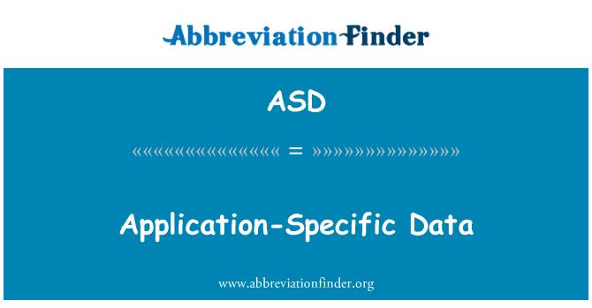 ASD: Application-Specific Data