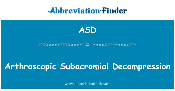 ASD: Arthroscopic Subacromial Decompression