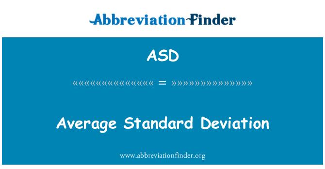 ASD: Average Standard Deviation