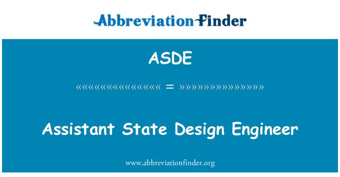 ASDE: Ingeniero de diseño de Estado adjunto