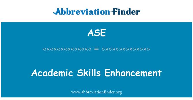 ASE: Academic Skills Enhancement