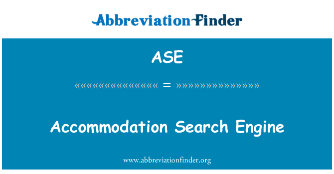 ASE: Accommodation Search Engine