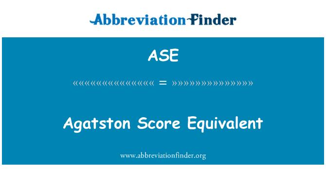 ASE: Agatston Score Equivalent
