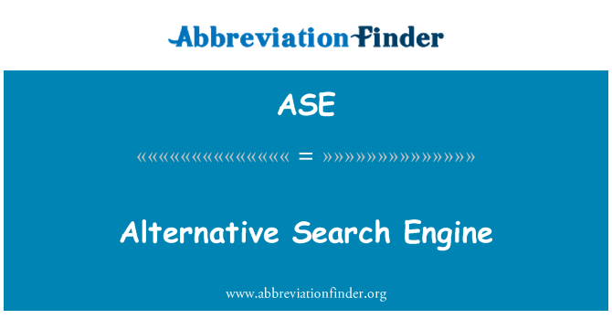 ASE: Alternative Search Engine