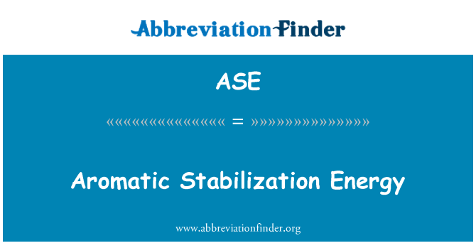 ASE: Aromatic Stabilization Energy