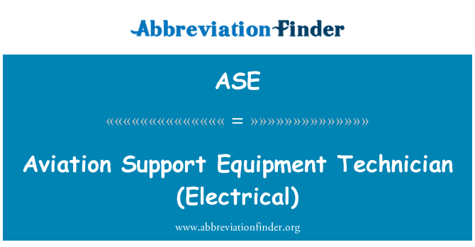 ASE: Aviation Support Equipment Technician (Electrical)
