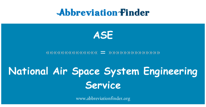 ASE: National Air Space System Engineering Service