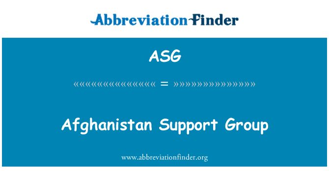 ASG: Afghanistan Support Group
