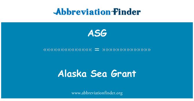 ASG: Alaska Sea Grant