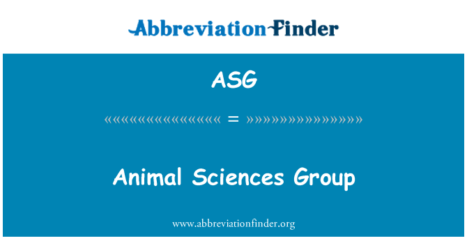 ASG: Animal Sciences Group