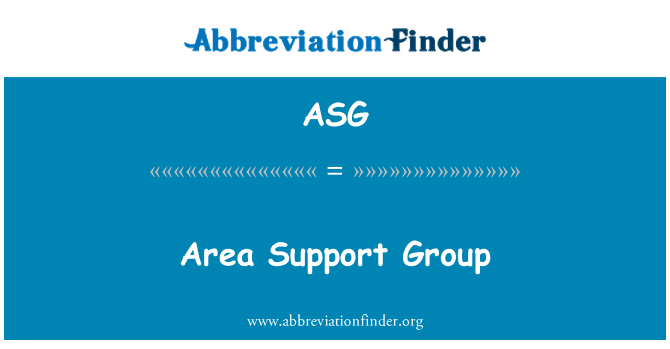 ASG: Area Support Group