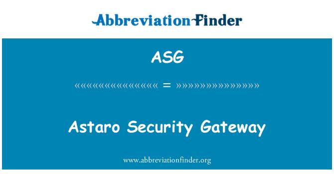 ASG: Astaro Security Gateway