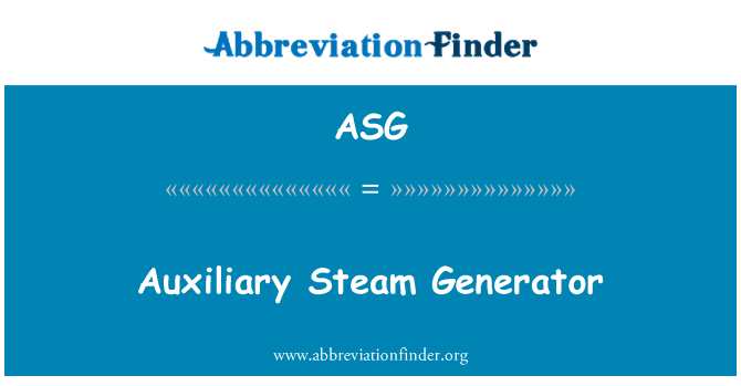 ASG: Auxiliary Steam Generator