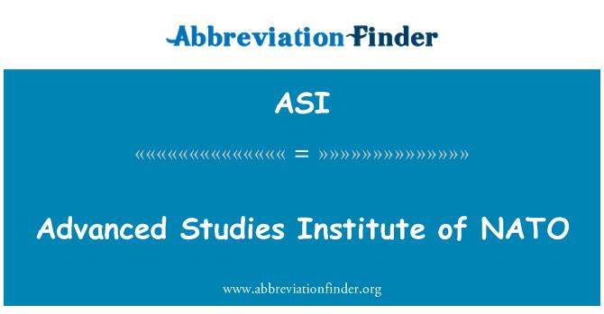ASI: Advanced Studies Institute of NATO