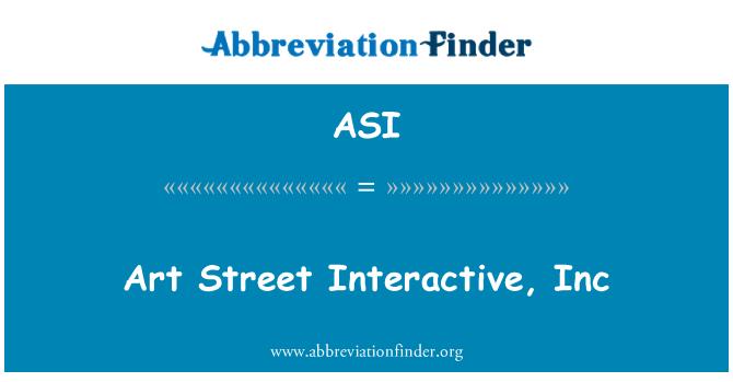 ASI: Art Street Interactive, Inc