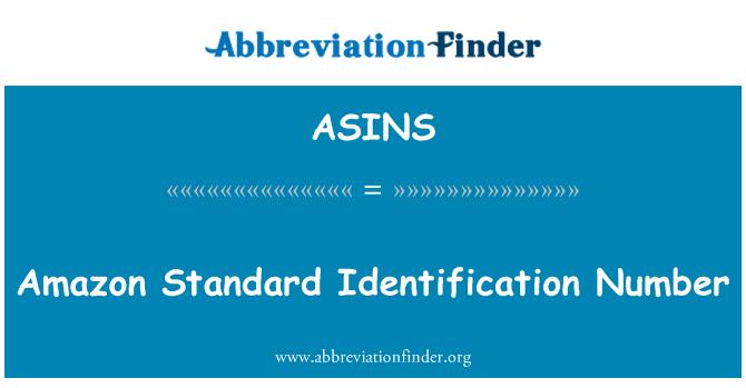 ASINS: Amazon Standard Identification Number