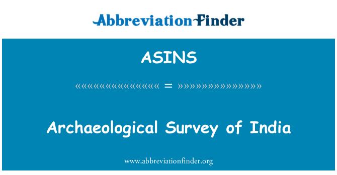 ASINS: Prospección arqueológica de la India