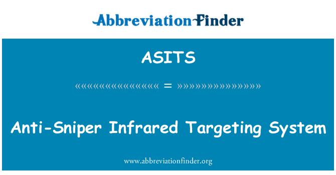 ASITS: Anti-francotirador infrarrojo sistema dirigidos a