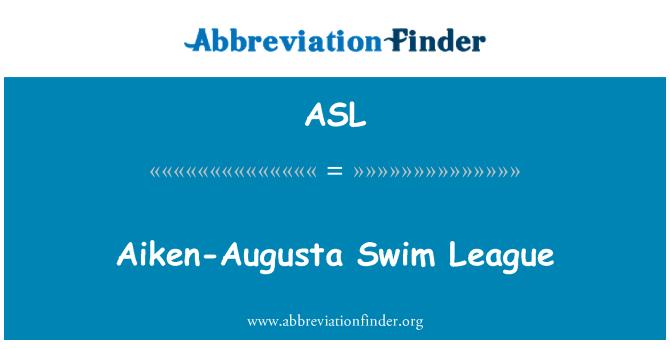 ASL: Aiken-Augusta Swim League