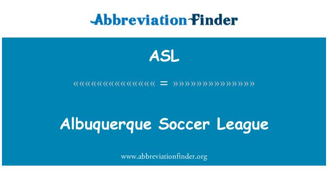 ASL: Albuquerque Soccer League