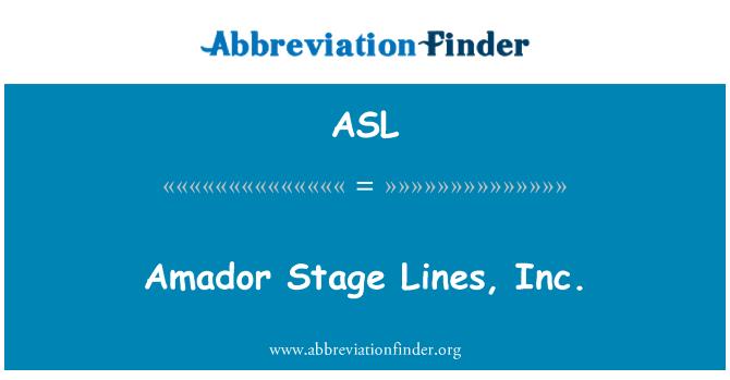 ASL: Amador Stage Lines, Inc.