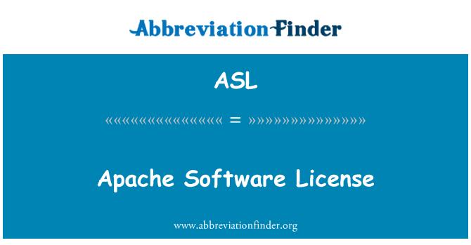 ASL: Apache Software License