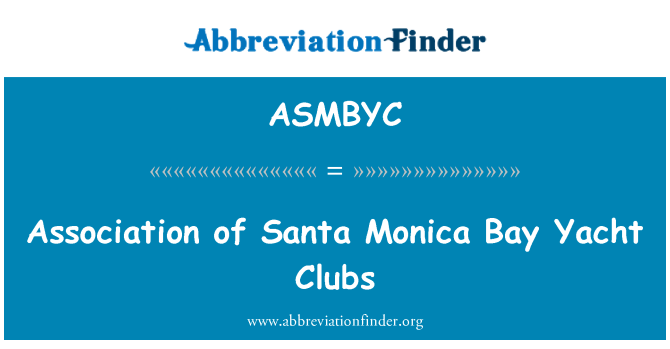 ASMBYC: Association of Santa Monica Bay Yacht Clubs