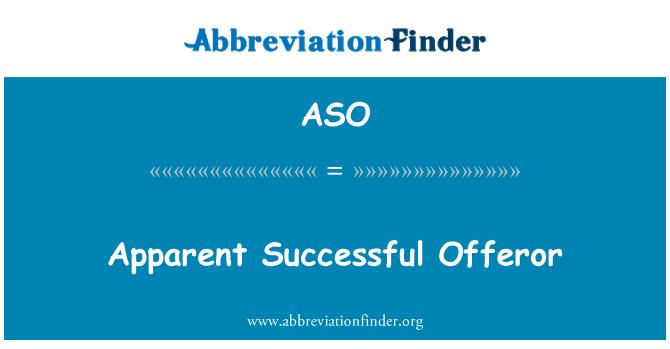 ASO: Apparent Successful Offeror