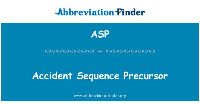 ASP: Precursor de la secuencia de accidente