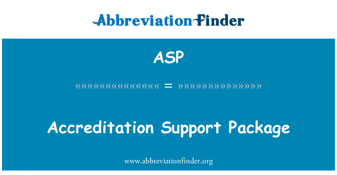 ASP: Akrediteerimise tugipakett