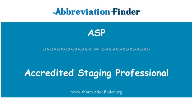 ASP: Acreditado escenificando profesional