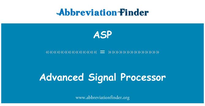 ASP: Procesador avanzado de señales
