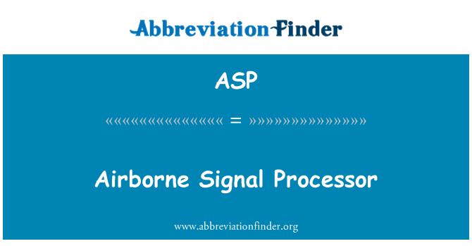 ASP: Õhus signaaliprotsessor