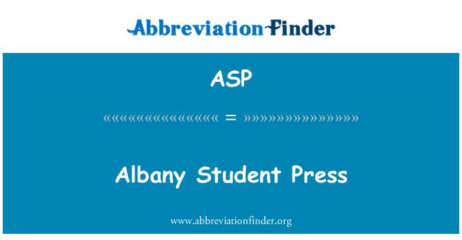 ASP: Albany üliõpilane Press