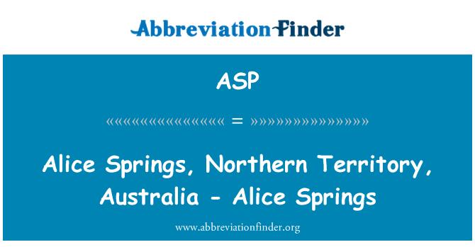 ASP: Alice Springs, Austraalia Põhjaterritoorium - Alice Springs