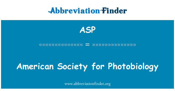 ASP: American Society for Photobiology