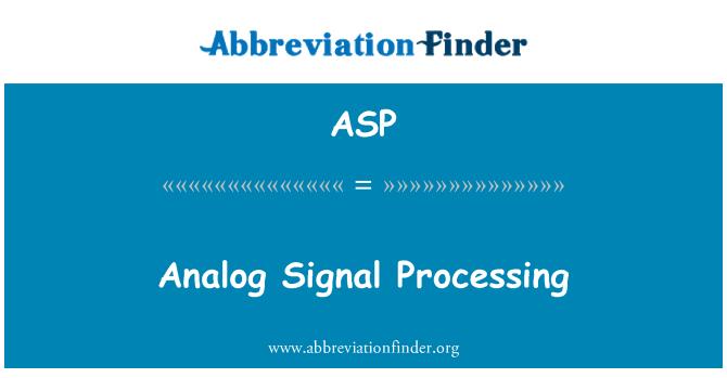 ASP: Procesamiento de señal analógica