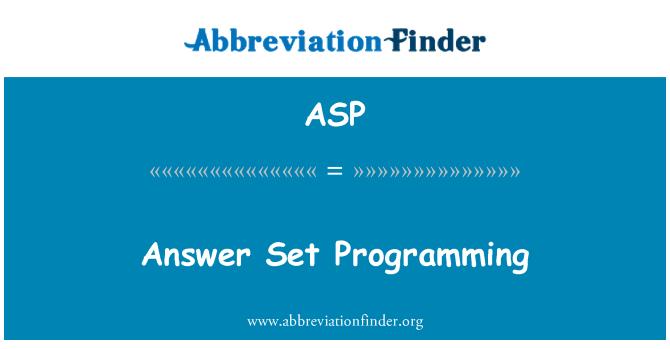 ASP: Vastus määra programmeerimine