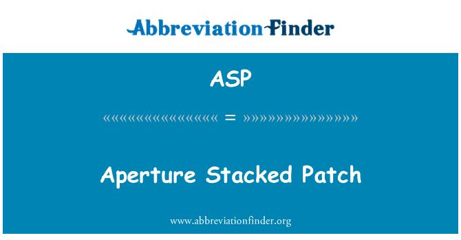 ASP: Ava laotud plaaster