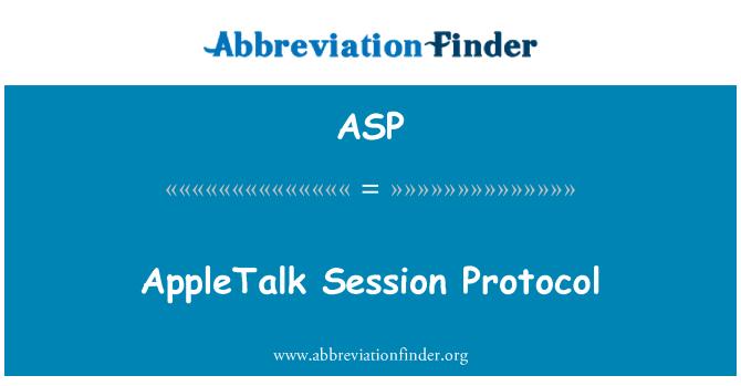 ASP: Protocolo de sesión AppleTalk