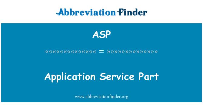 ASP: Parte del servicio de aplicación