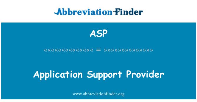 ASP: Proveedor de compatibilidad con aplicaciones