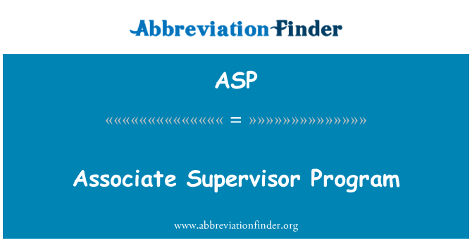 ASP: Seosta järelevaataja programm