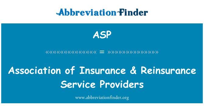 ASP: Kindlustus- & edasikindlustuse teenuseosutajate Assotsiatsiooni