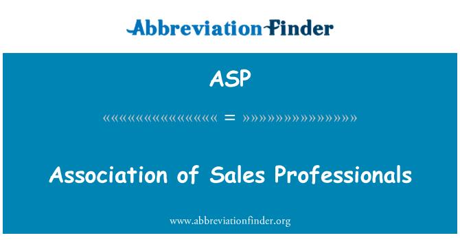 ASP: Ühenduse müügi spetsialistid