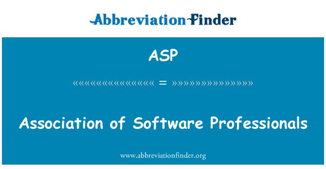 ASP: Asociación de profesionales de Software