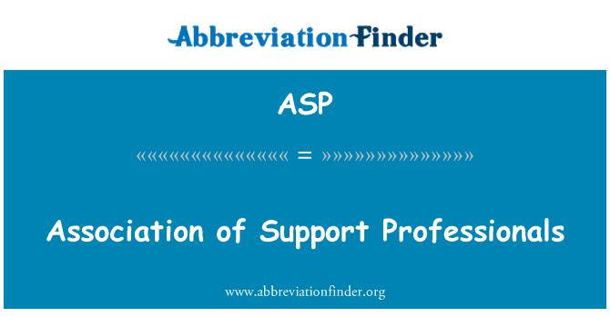 ASP: Asociación de profesionales de soporte