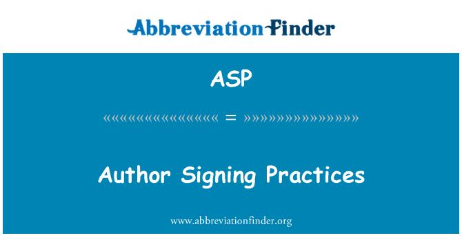 ASP: Szerző aláírása gyakorlatok