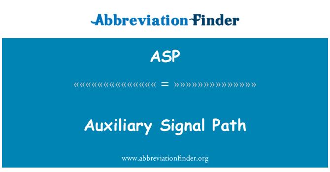 ASP: Recorrido de la señal auxiliar